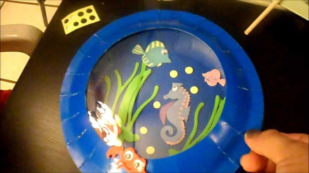 Kids Fun Crafts Aquarium Card and Plate - YouTube