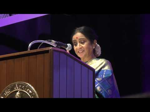 Aruna Sairam : Opening day of The Music Academy conference