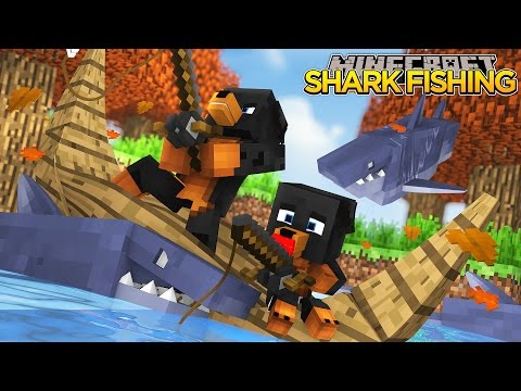 Minecraft - Donut the Dog Adventures -BABY MAX CATCHES A KILLER SHARK!!!!