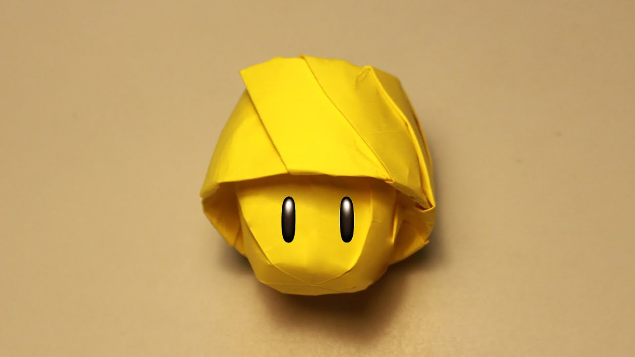 How To Make An Origami Mushroom Mario Henry Phm Youtube