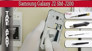 How to disassemble 📱 Samsung Galaxy J2 SM-J200 Take apart Tutorial