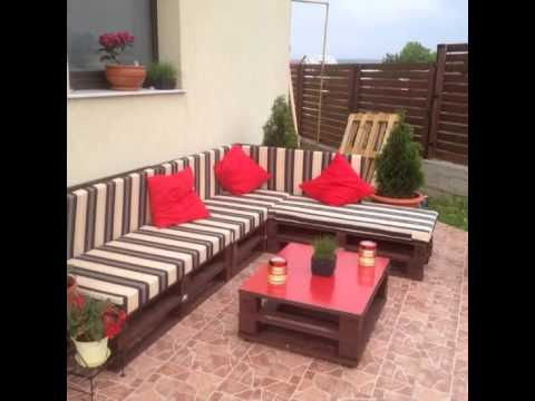 2 video palets jard n y terraza youtube for Sofas para terrazas