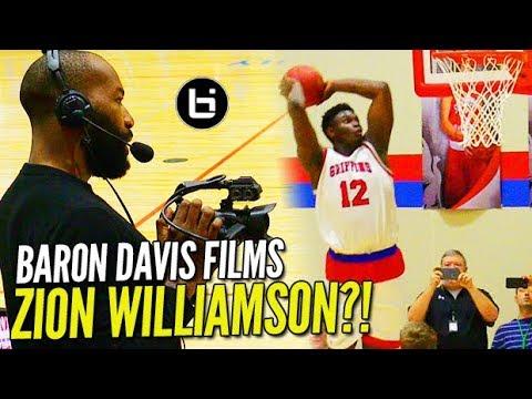 "Zion Williamson GOES OFF in Front of Baron Davis & Rachel ""2K"" DeMita!"