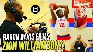 "Zion Williamson GOES OFF in Front of Baron Davis & Rachel ""2K"" DeMita!"