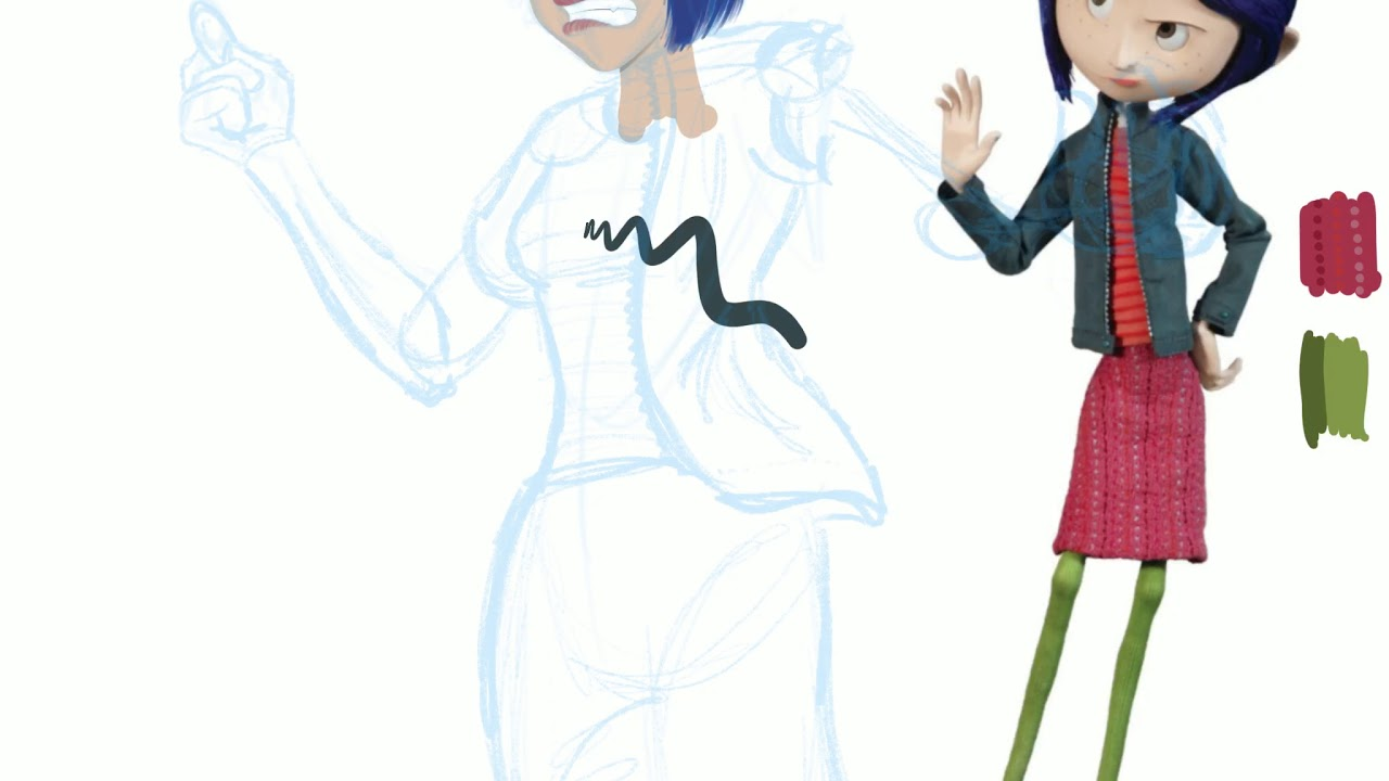 Drawing Of Button Eyes Button Ized Tf Tg Into Coraline Youtube