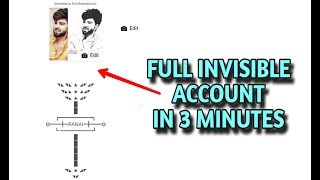 how to create invisible name facebook account 3 minutes