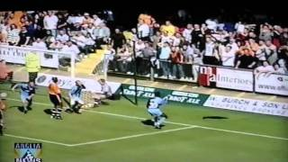 Wycombe Wanderers 1 1 Luton Town Lge Kandol 28th Aug 2000 AVI