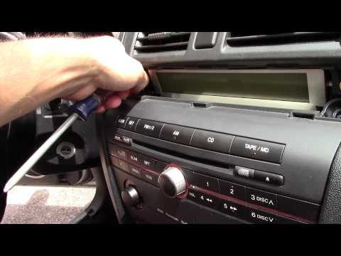 Subwoofer And Amp Install On A Factory Head Unit - 04 Mazda 3