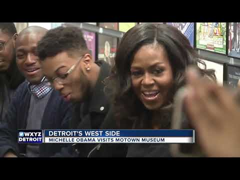 Michelle Obama visits Motown Museum