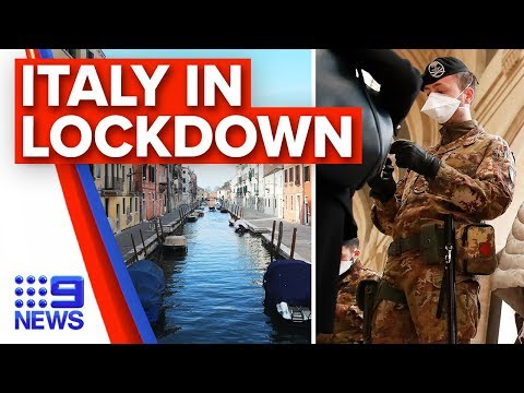 Breaking News: Italy extends coronavirus lockdown nationally | Nine News Australia