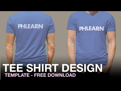 Phlearn tee shirt design template youtube pronofoot35fo Gallery
