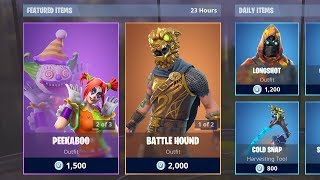 PEEKABOO & BATTLE HOUND SKINS! (Fortnite Item Shop 6th February)