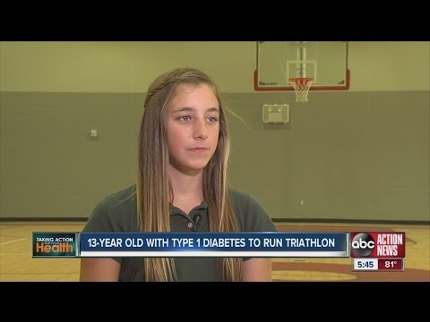 Teenage girl with diabetes to run triathlon