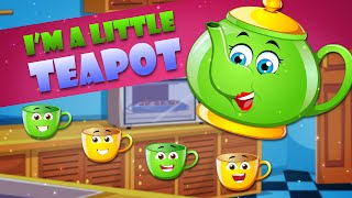 I Am Little Teapot   FlickBox Nursery Rhymes for Children   Kids Songs