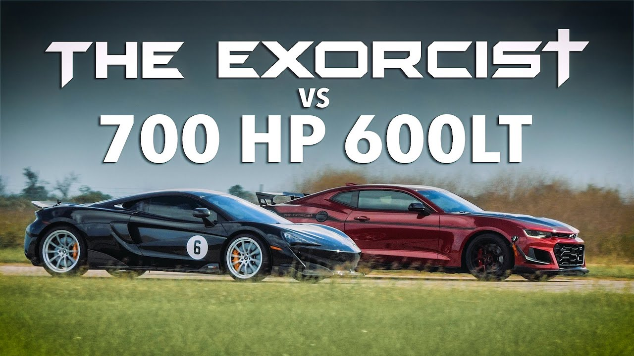 THE EXORCIST Camaro ZL1 1LE vs Tuned McLaren 600LT // Street Race Comparison!