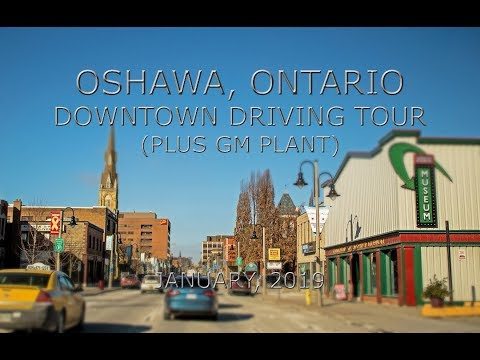 Oshawa, Ontario: Downtown Driving Tour (Plus GM Plant)