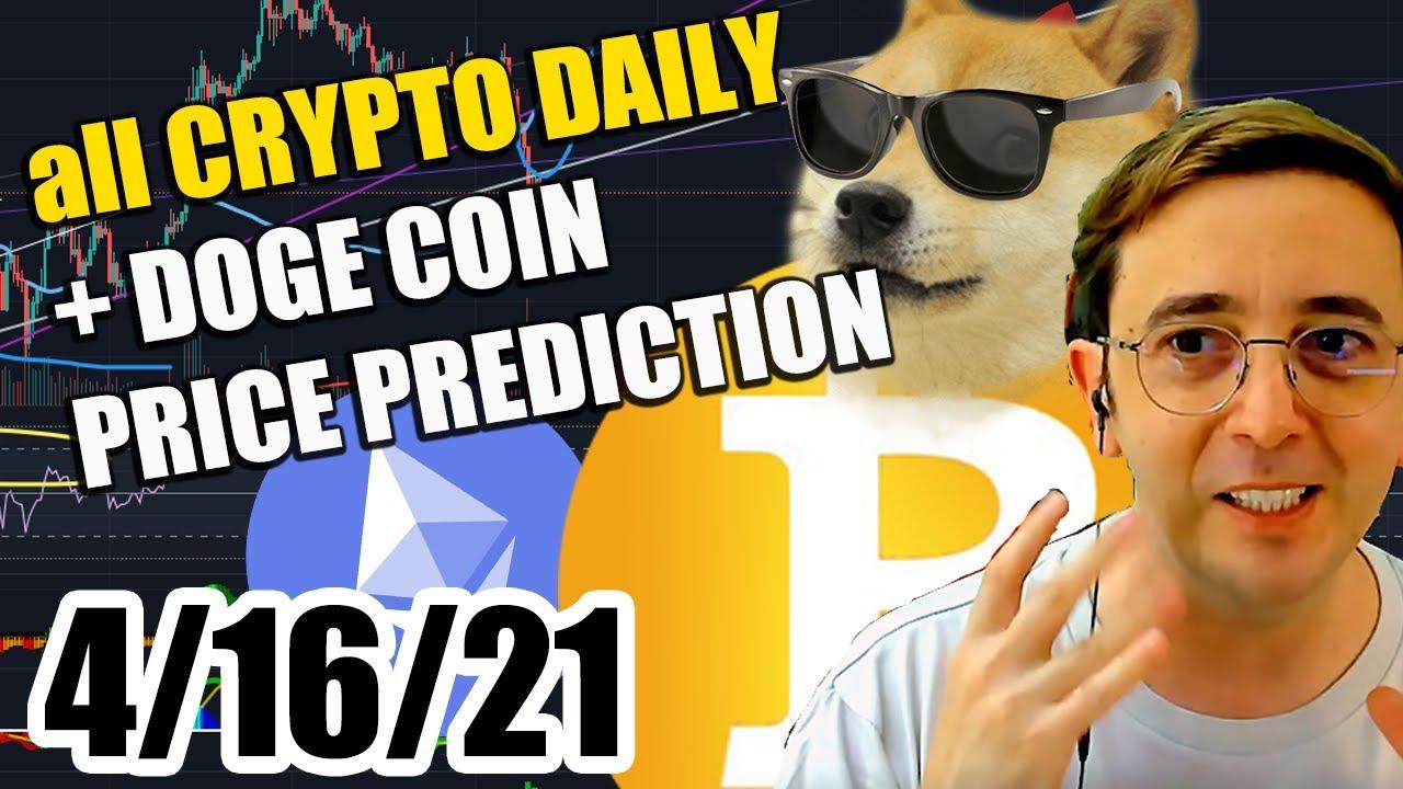 DAILY CRYPTO + DogeCoin analysis - price prediction ...