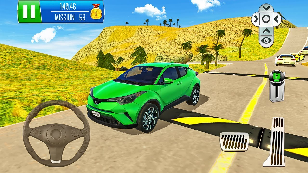 Toyota Compact SUV Driving - Parking Island: Mountain Road - Android Gameplay