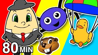 Humpty Dumpty & More | Nursery Rhymes Collection | Itsy Bitsy, Finger Family Songs, Surprise Eggs