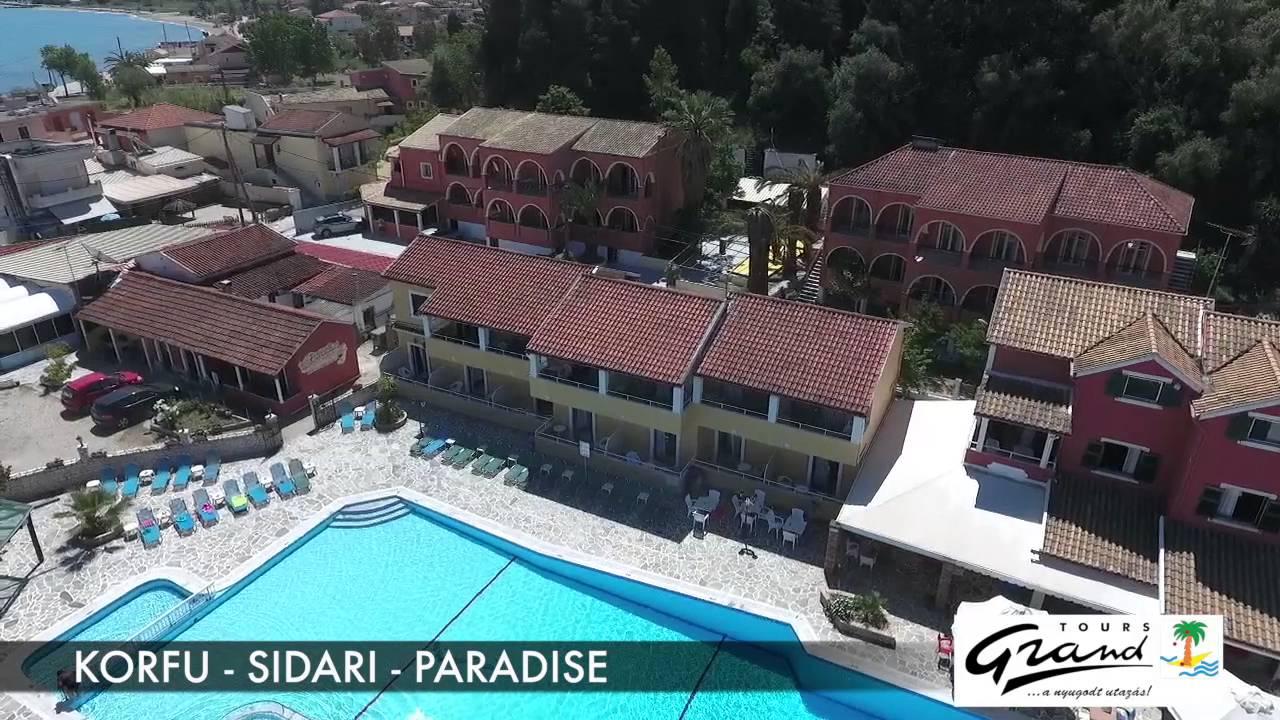 Korfu Sidari Paradise Apartman Drón Videó