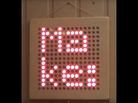 DIY LED Matrix, using CNC mill and laser cutter