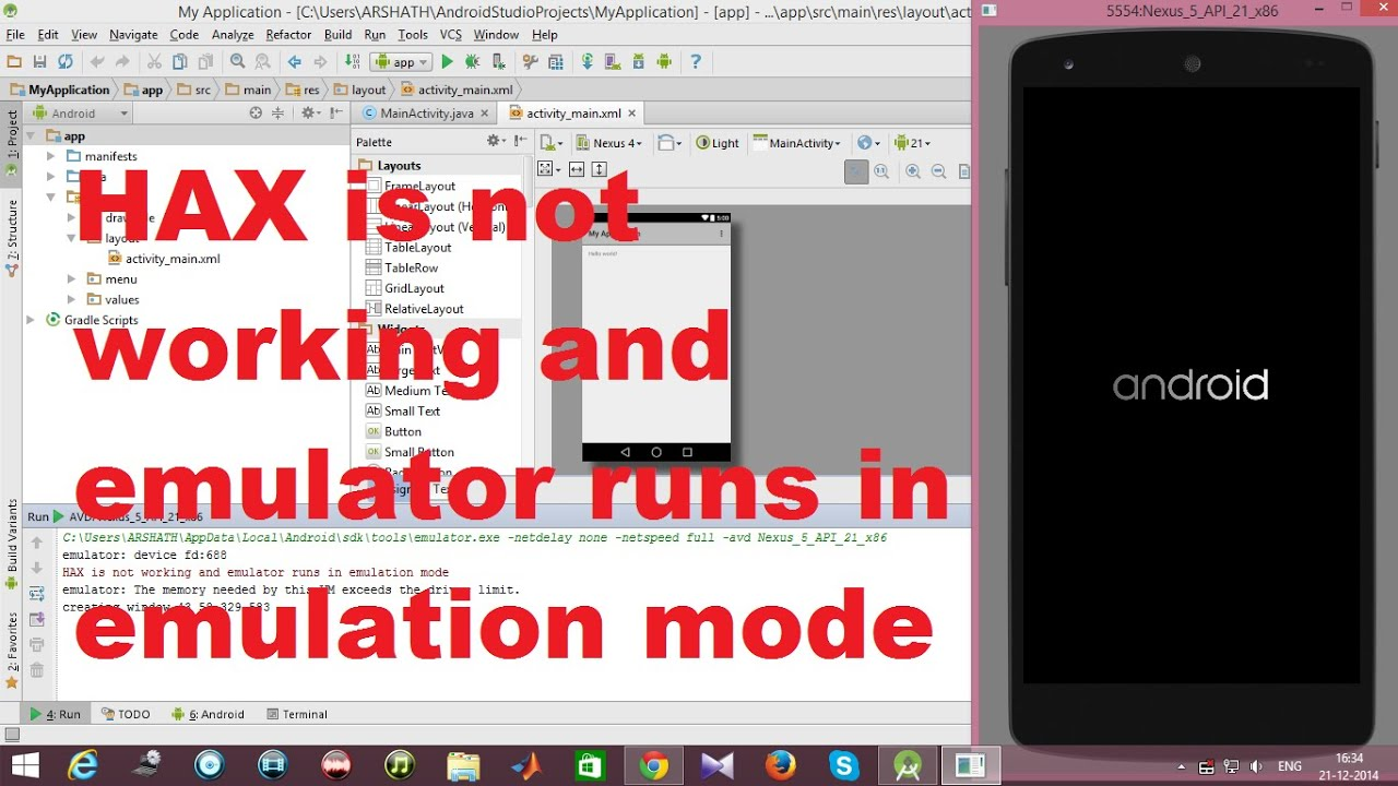 HAX is not Working and Emulator Runs in Emulation Mode – Android Error Solved
