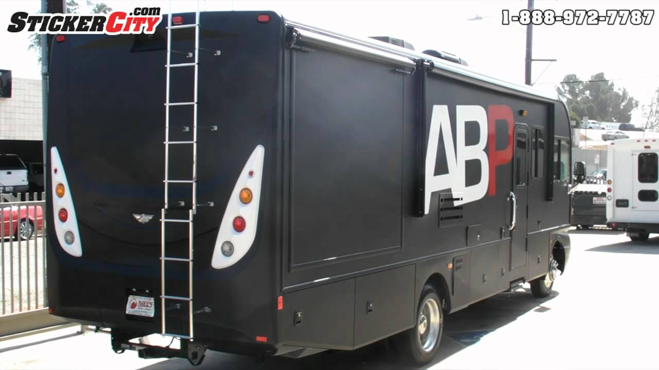 Matte Black Fleetwood Rv Wrap By Stickercity Com Youtube