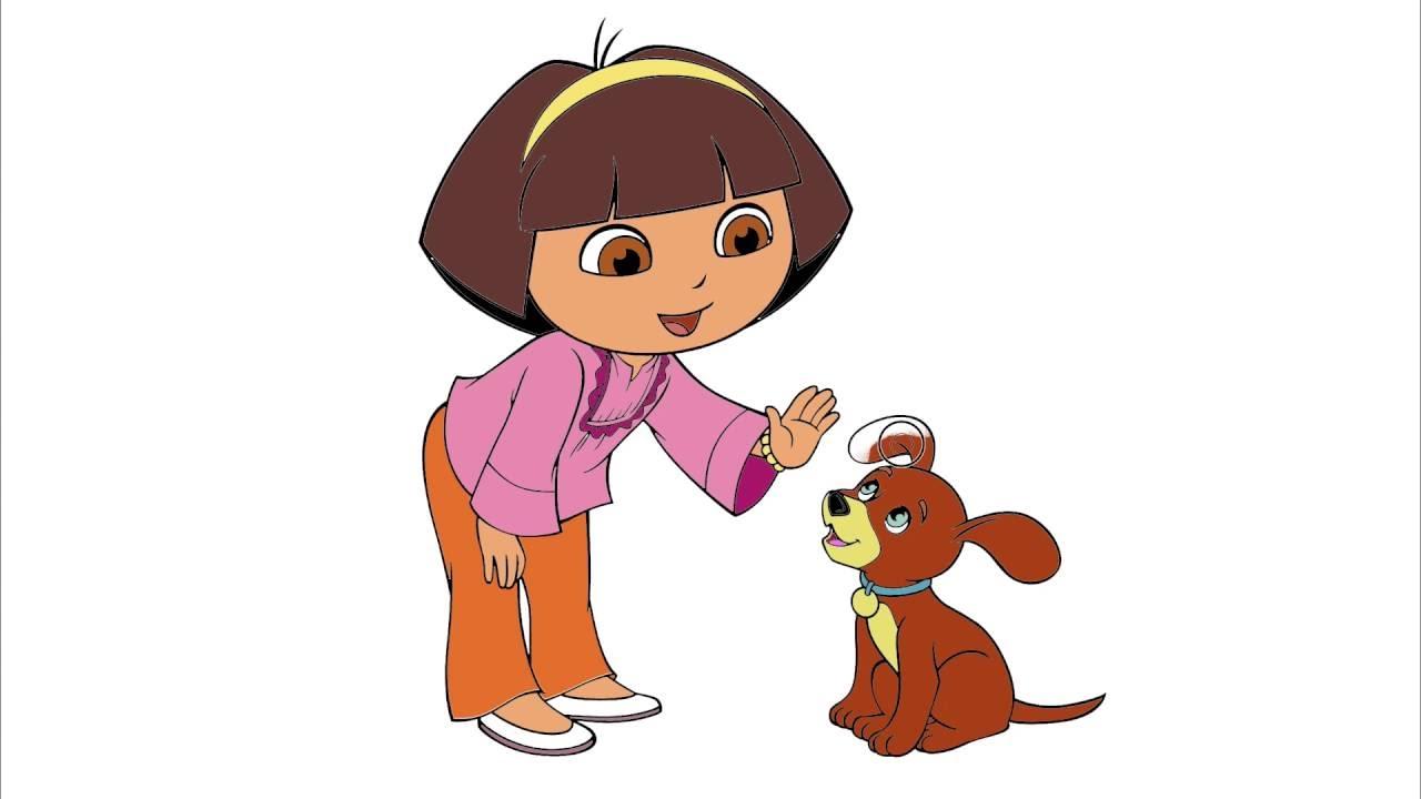 Kaşif Dora çizgi Film Karakter Boyama Sayfası 3 Minik Eller Boyama