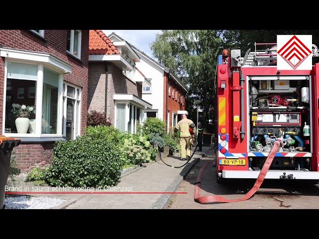 Brand in sauna achter woning in Oldenzaal