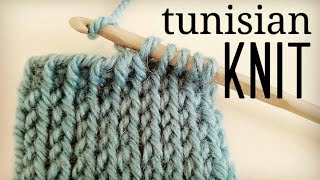 How to crochet Tunisian Knit Stitch (TKS) | tunisian crochet tutorial ♥ CROCHET LOVERS