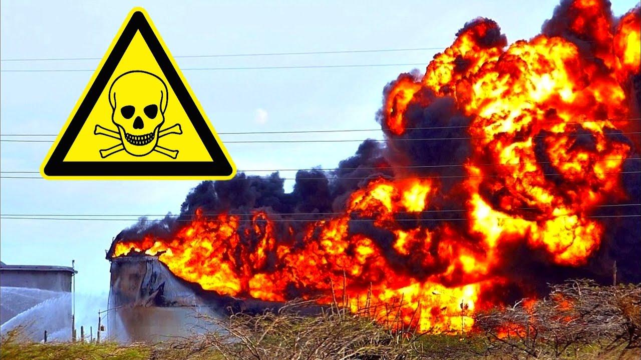 Мощный взрыв на химическом заводе Currenta в Германии