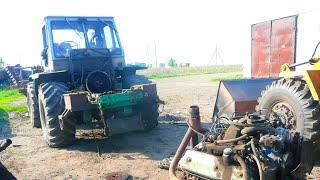 66-Д.(2С.).Начинаем  ремонт сцепления на Т-150К.Демонтаж двигателя ЯМЗ-236