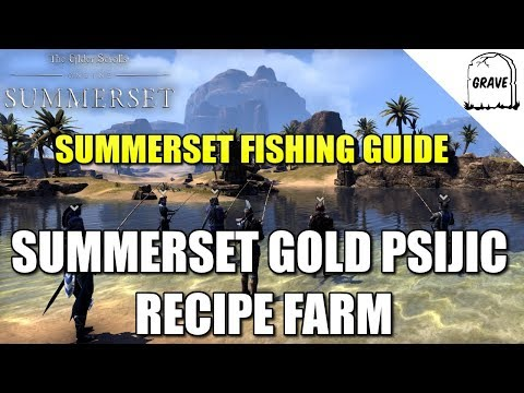 (PS4) ESO Summerset: Fishing In Summerset! Gold Recipe Farm