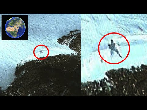 20 Meter Person In Antartica On Google Earth Map! UFO Sighting News.