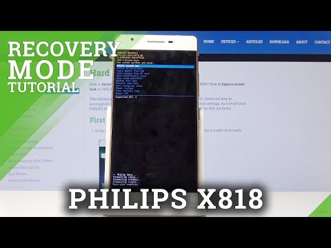 Recovery Mode In PHILIPS X818 – How To Open & Use PHILIPS Recovery