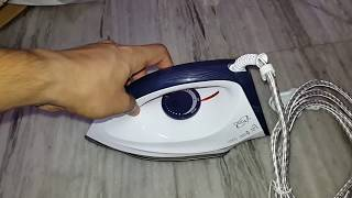 Orpat OEI 187 1200-Watt Dry Iron (White and Blue) Unboxing