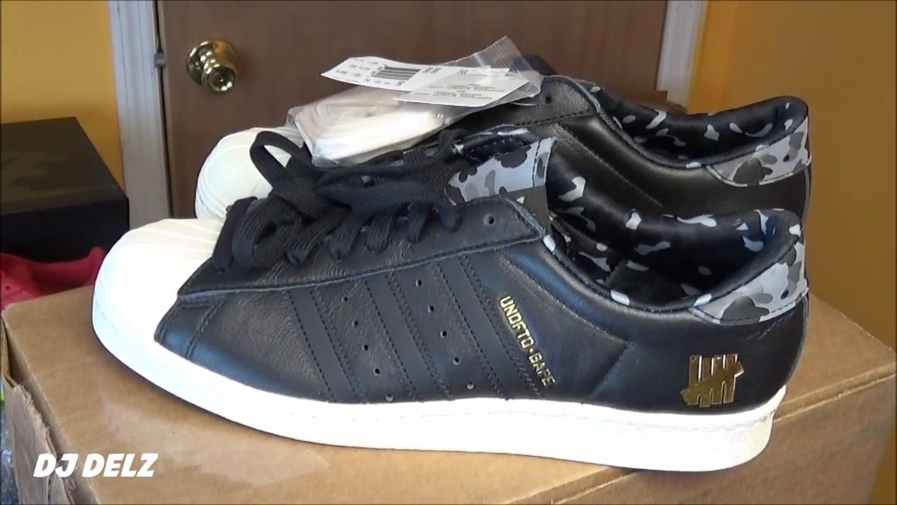 buy online 5fc65 5ceca UNBOXING BAPE UNDFTD adidas Originals Superstar 80 Black Camo Sneaker  Review - YouTube