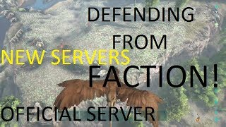 Ark Survival Evolved Server Wipe Defence | Official Server Raid | New Servers