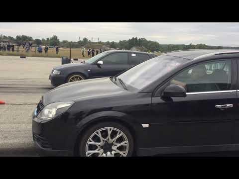 Audi S3 8l Vs Opel Vectra 2.8 V6 Turbo - 1/4 Mile - Audi Brutal Sound - Drag Racing