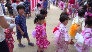 Youchien's Festival in Sasebo Japan Song: 田中 星児/若草児童合唱団...