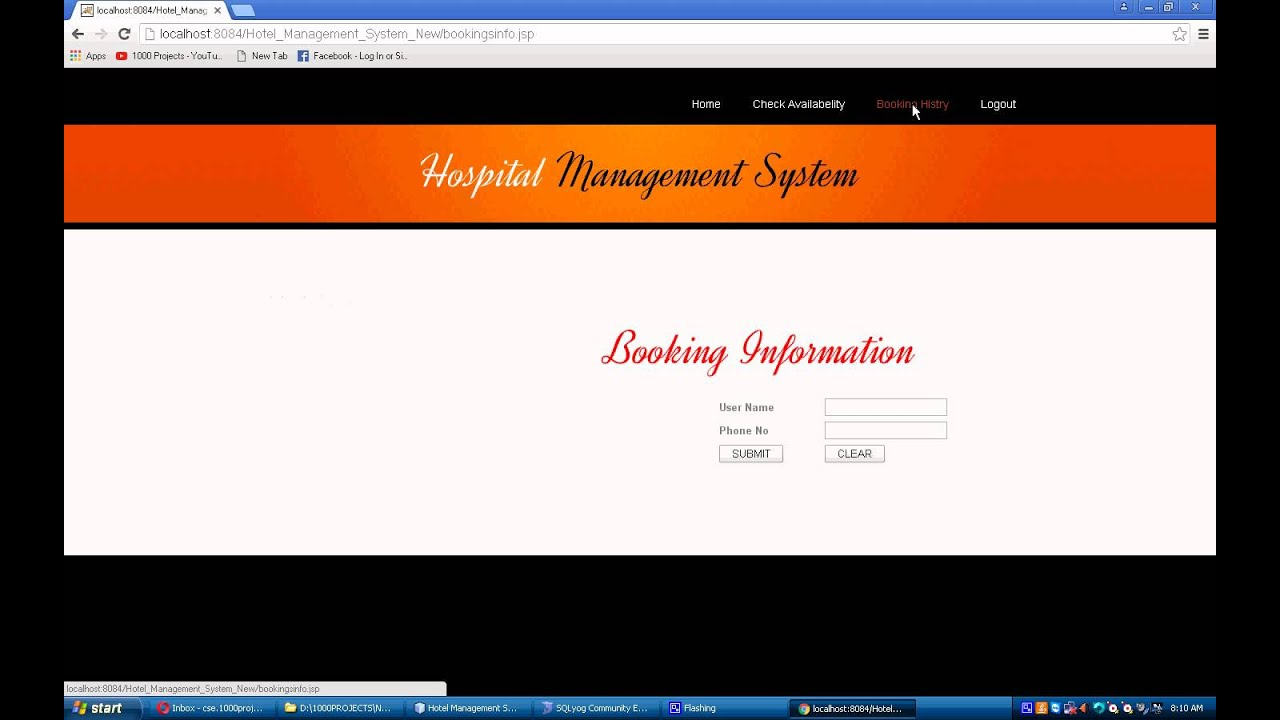 Hotel Management system Java Project