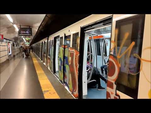 Rome Metro Metropolitana di Roma Colloseo to Spagna via Termini Rome Italy