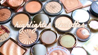 HIGHLIGHTER DECLUTTER 2019! CUTTING MY COLLECTION IN HALF