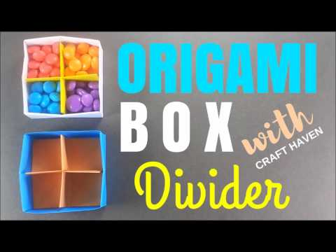 Origami Box with Divider- Easy Origami Paper Box With Separator - DIY Paper Box