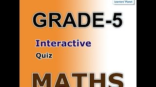 Fifth Graders Math Interactive Quizzes