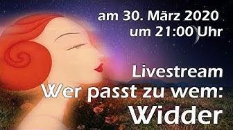 """Livestream Horoskop""""Wer passt zu wem"""", diesmal: Der Widder"""