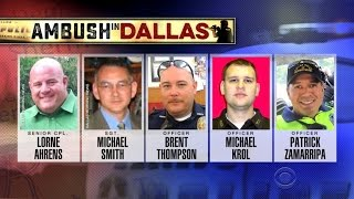 Dallas mourns after five officers killed