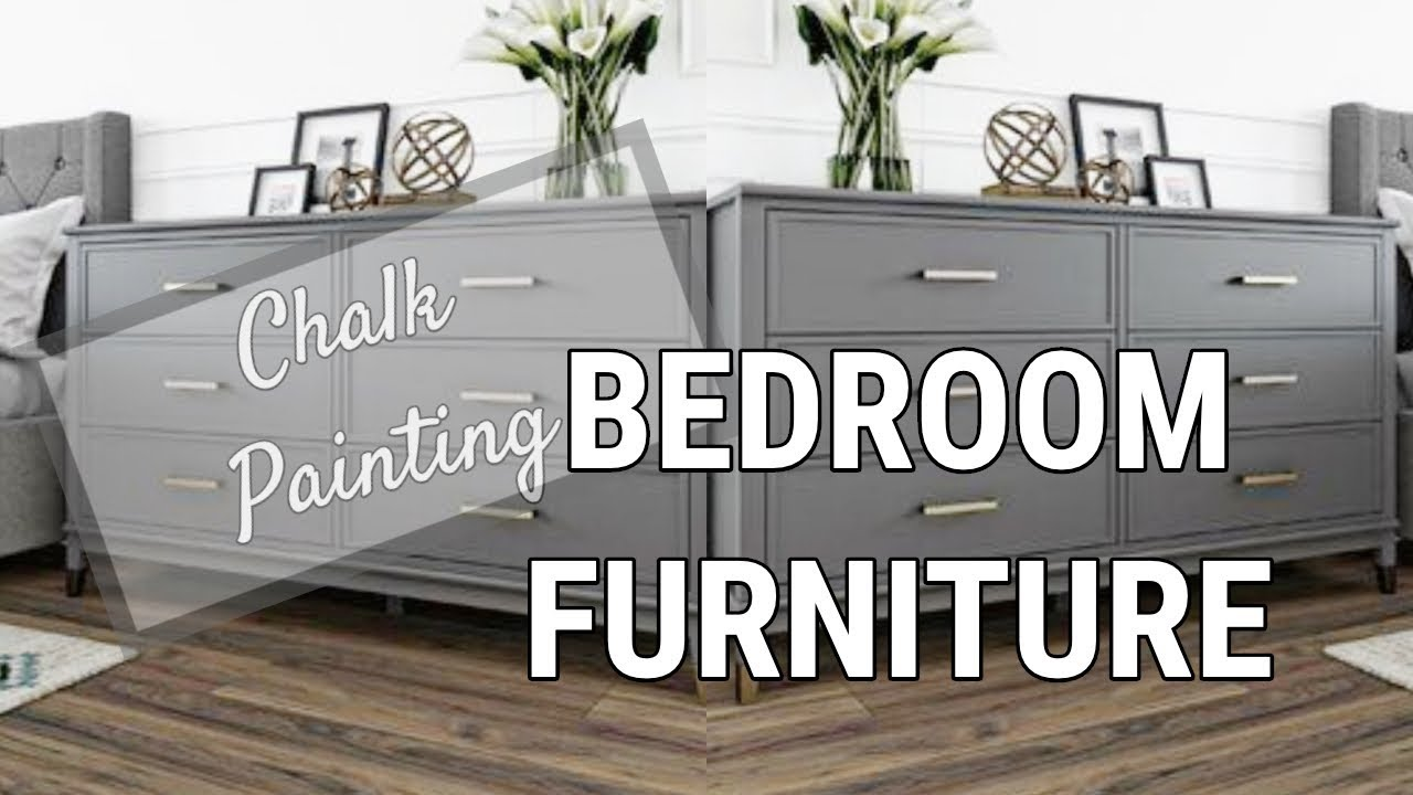 Vlog Chalk Painting My Bedroom Furniture Youtube