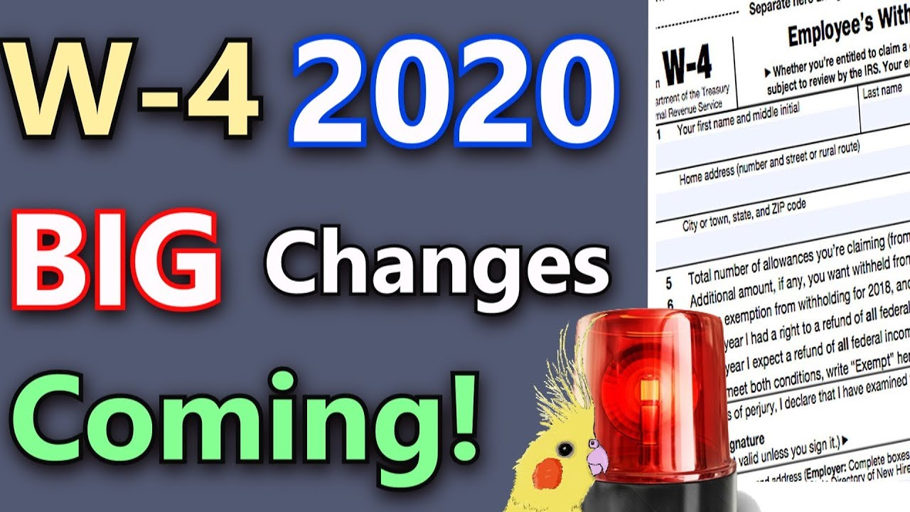 New Tax Changes For 2020 Major W 4 Changes Coming! (W 4 2020 Explained & Privacy Concerns