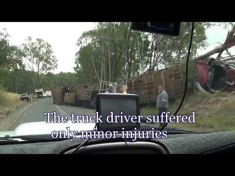 Truck Crash Today on Wondai to Chinchilla road at Durong Qld